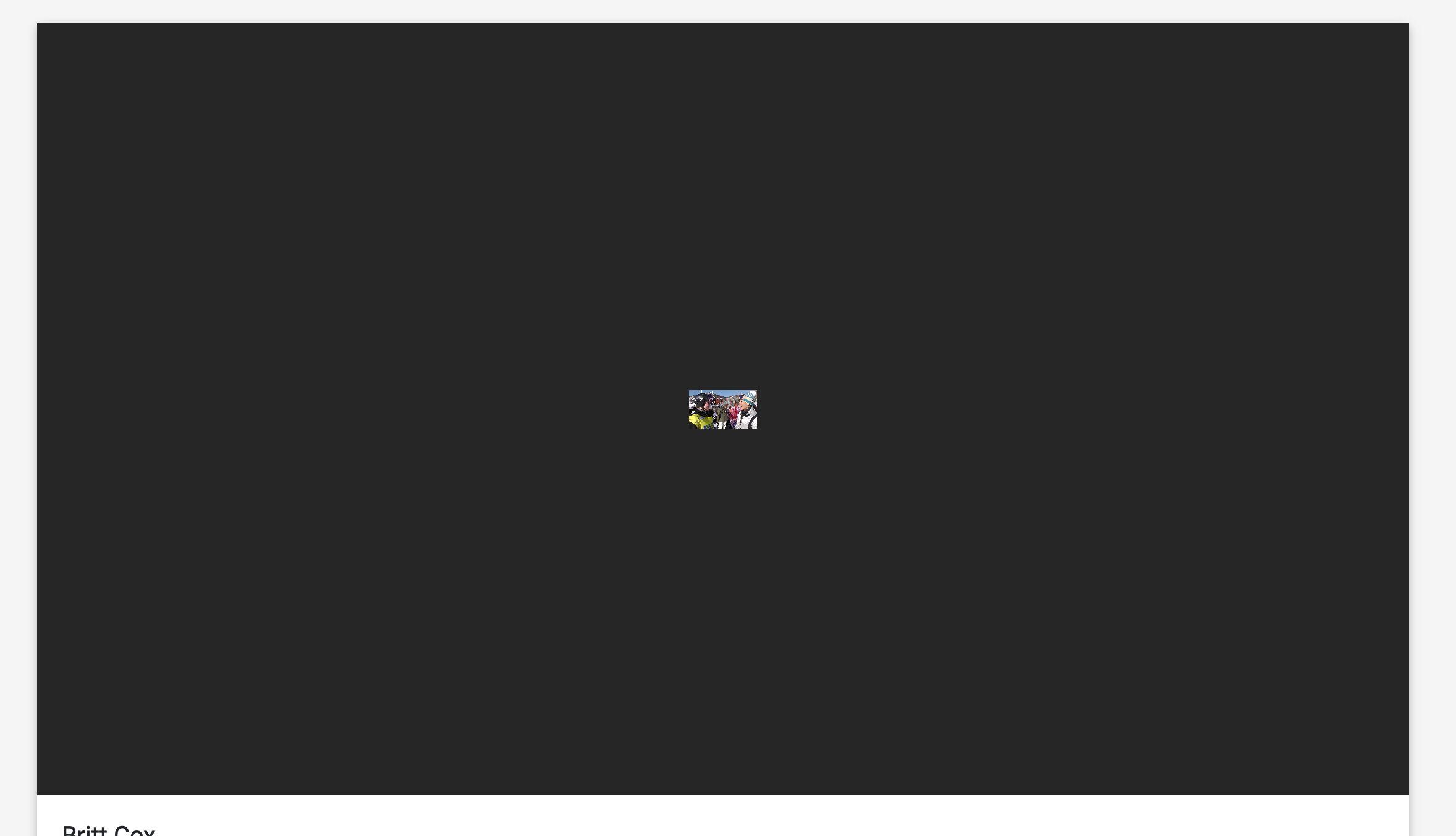Safari screen shot of player