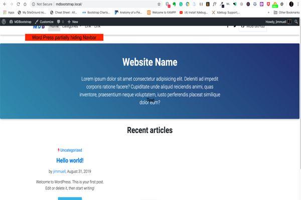 Navbar Design: Material Design For Bootstrap