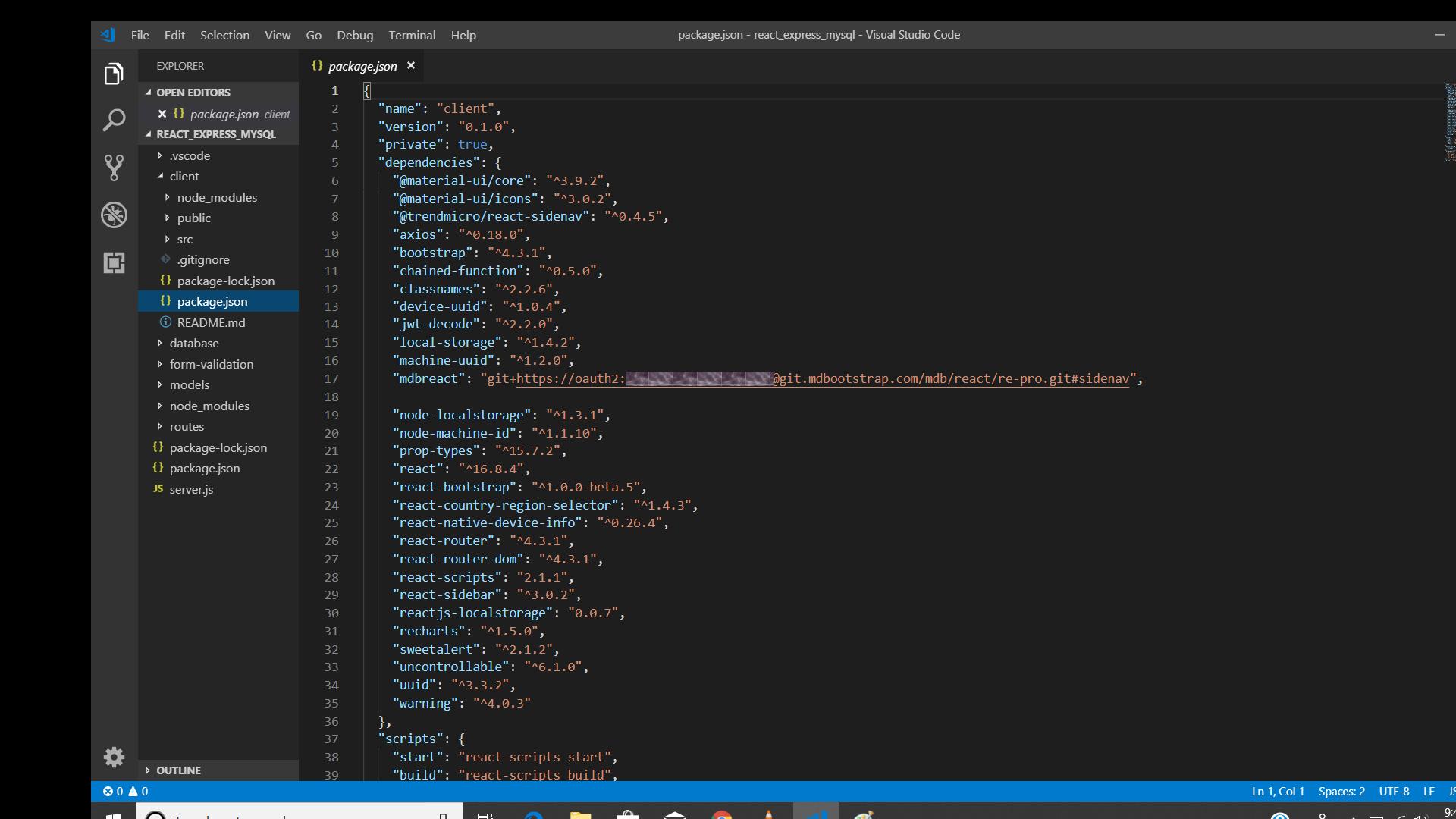 Insert scroll in sidenav in React admin dashboard - Material